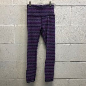 Lululemon multi color hi waist legging sz 4 62643